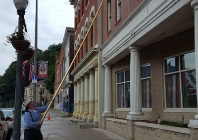Window Cleaning with Water-Fed Pole